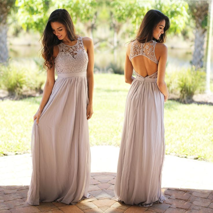 We've falling head over feels in love with this beautiful Gray Lace Maxi Dress! Our best seller maxi is the perfect shade of gray and fits like a dream. Don't miss this out on this elegant evening gown! Browse our entire collection of maxi dresses now at our online dress boutique !