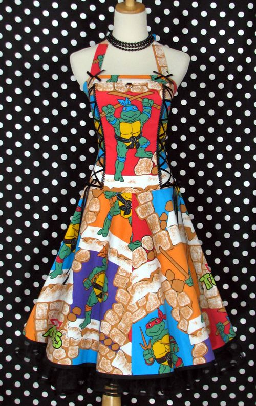 ninja turtles dress!!: Geek, Mutant Ninja, Fashion, Turtles Dress, Style, Dresses, Ninja Turtles, Tmnt Dress