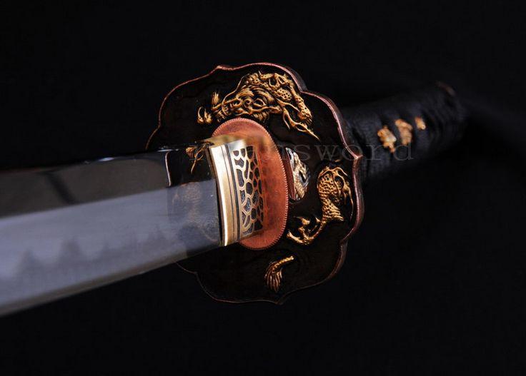 Aliexpress.com: Comprar 2015 Katana espada japonesa Shihozumi espiga completa + arcilla templada + abrasivo + cobre Tsuba de cobre pintura fiable proveedores en XFxinfei