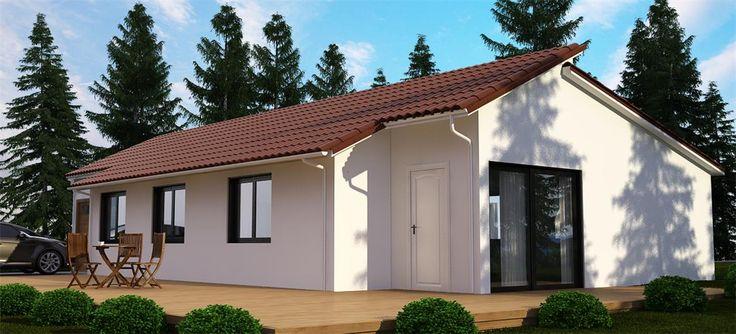 17 mejores im genes sobre casas de tejado inclinado - Ver casas de madera ...