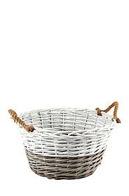 LARGE TWO TONE WILLOW BASKET