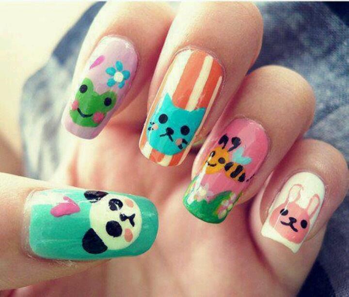 97 best Kawaii Nails images on Pinterest   Nail scissors, Make up ...