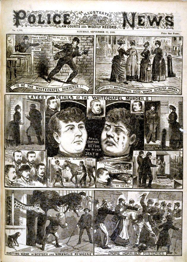 Newspaper report on the Whitechapel murderer aka Jack the Ripper, 1888