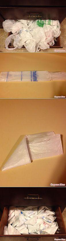 полезности для дома . Как можно привести в порядок пакеты из магазина.