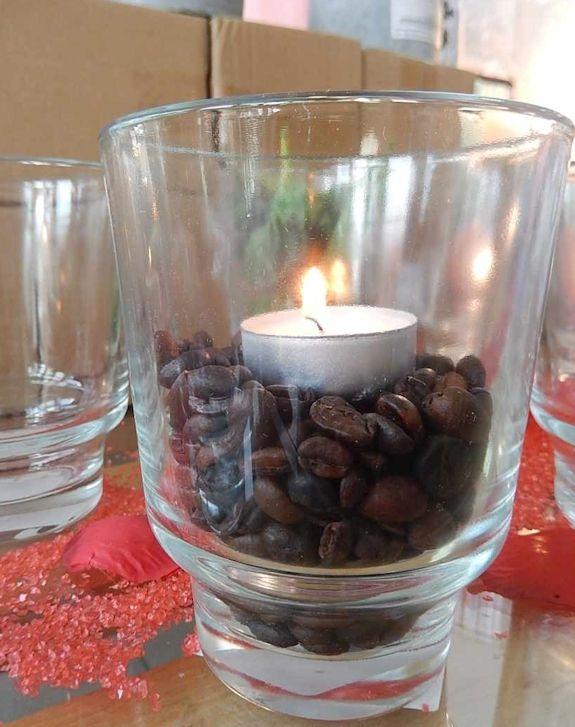 Vaza LEO din sticla., de ex. lumanar. art.-nr: 00516. Lei 10.-