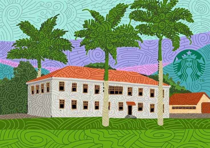 fazenda de café no Brasil