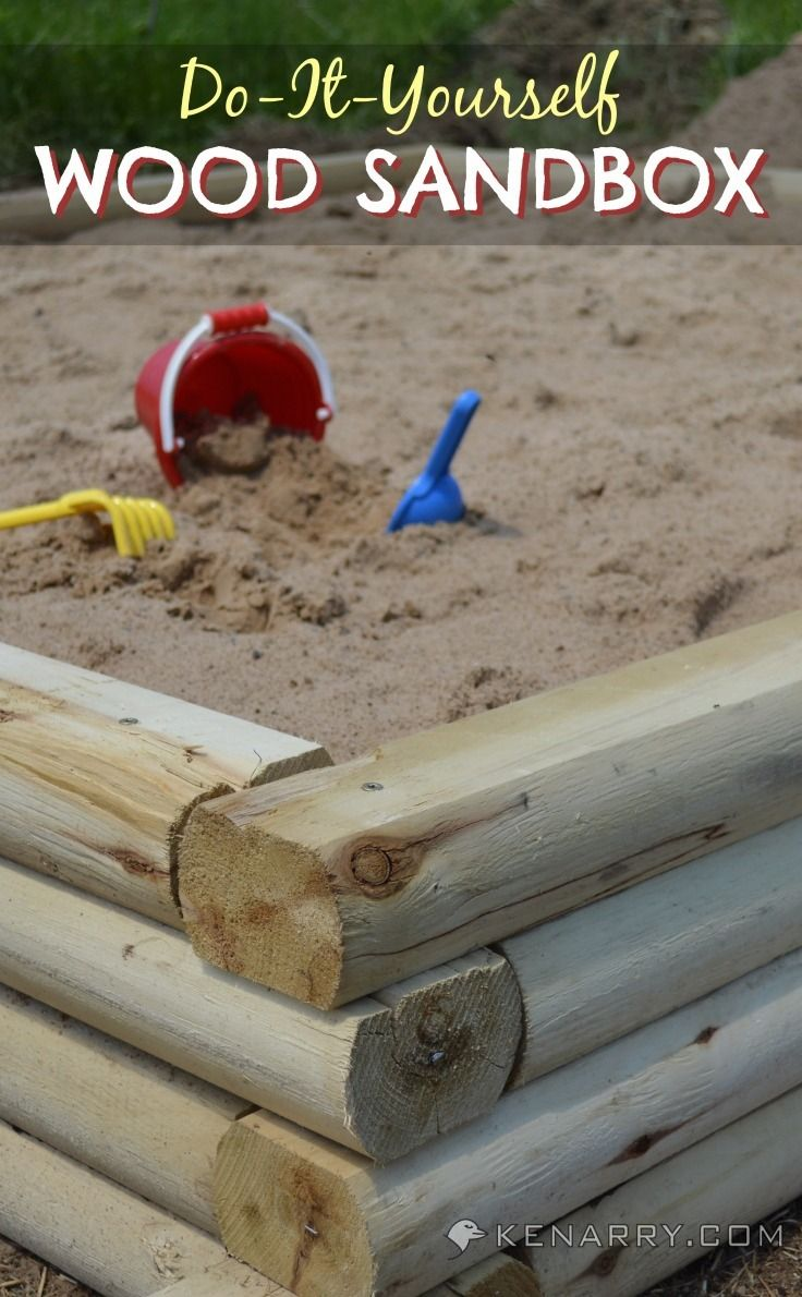 Create a DIY Wood Sandbox out of simple materials that your kids will love! A great idea for the backyard of your home!
