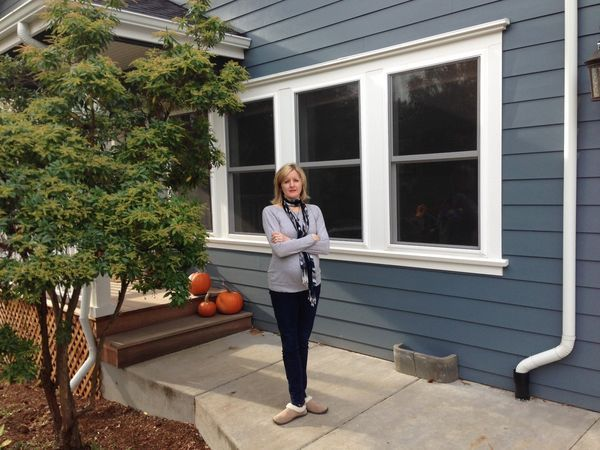 Portlanders like the Marcheks (Gretta Marchek is shown in front of her Multnomah Village home) find payoffs in remodeling their houses | OregonLive.com