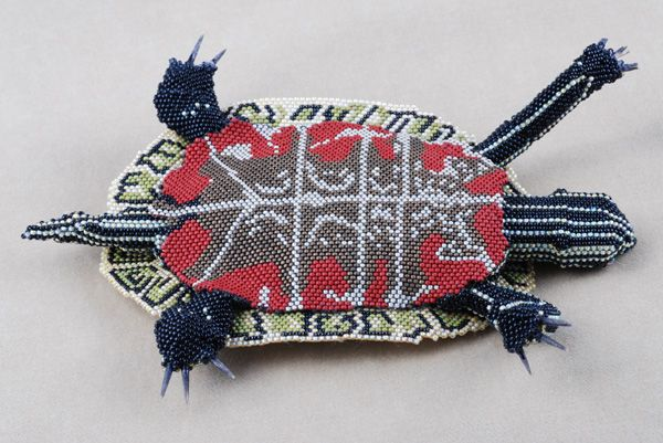 Turtle belly. Beadwork by Tina Chance
