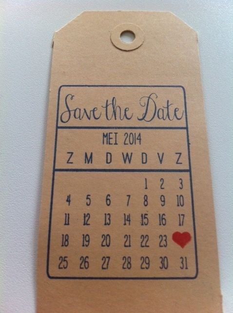 Met namen ipv save the date
