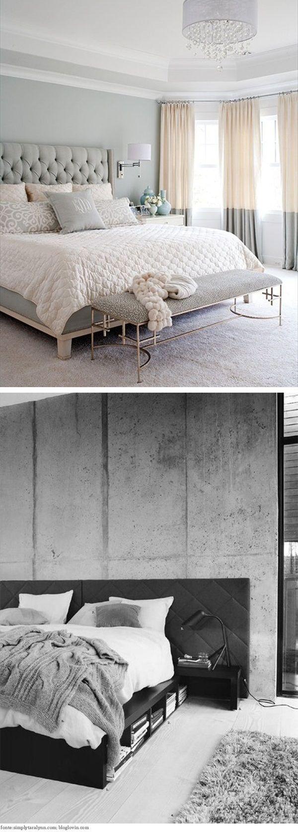 Inspiração de quartos cinza