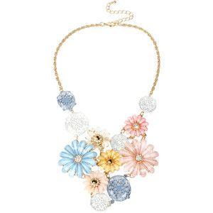 Mixit™ Gold-Tone Pastel Flower Bouquet Bib Necklace