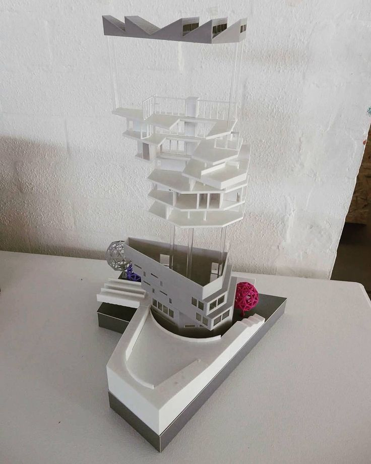 1:200 3D printed architectural model. dare to be different!
