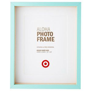 Target AustraliaTAloha Photo Frame - 20 x 25cm - Blue – $10.00  Can't go wrong with a beautiful frame at a great price.  target.com.au