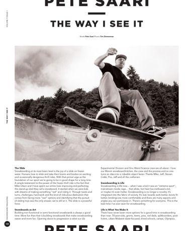 Snowboard Mag: Pete Saari – The Way I See It – Mervin Manufacturing