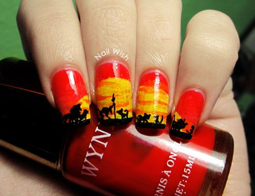 Lion King Nails. Insanely cool, but ain't nobody got time for that!