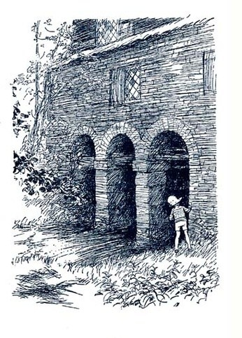 Ernest Shephard illustration - Come Out With Me - from Now We are Six by A. A. Milne, 1927