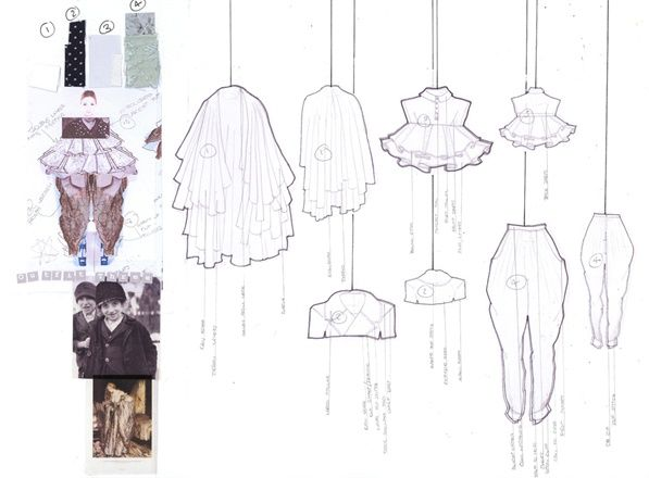 Fashion Sketchbook - fashion design portfolio; outfit design development; creative layouts // Rebecca Thomson
