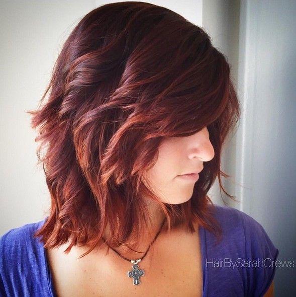 15 más calientes Peinados longitud media con Bangs