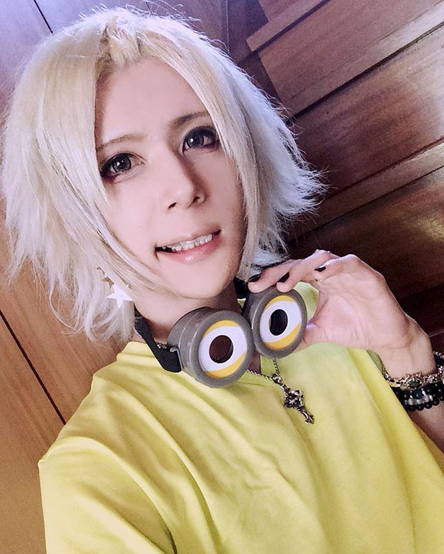 HMV SENDAI thx...!!! and Today's makeup...❤︎ #HMV #SENDAI #minions #visualkeimakeup #makeuplover #visualkei #vkei #vrock #jrock #v系 #visual系 #ビジュアル系 #ヴィジュアル系 #guitarist