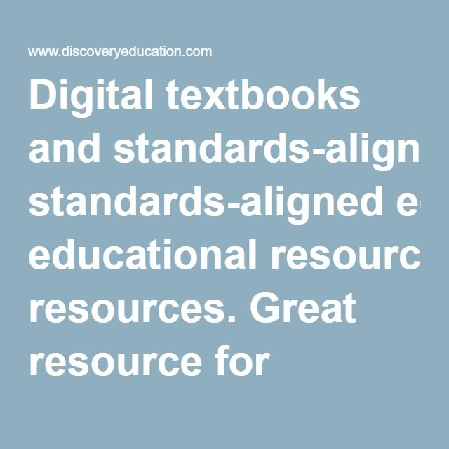 Digital textbooks and standards-aligned educational resources. Great resource for teachers to use to gather examples of lesson plans to use when teaching science.
