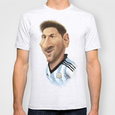 Messi - Argentina T-shirt by Sant Toscanni - $22.00