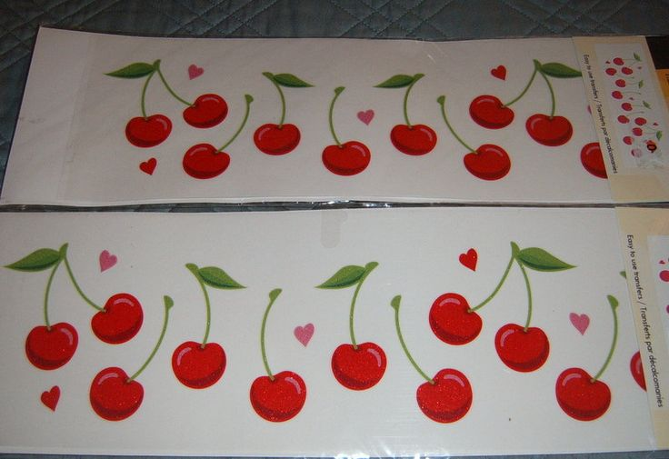 Cherries Rub Ons,  Rub On Decals, Kitchen Decor, Cherry Decal,. $8.00, via Etsy.