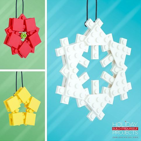 Wonderful DIY LEGO Christmas Ornaments That You Can Assemble At Home - DesignTAXI.com