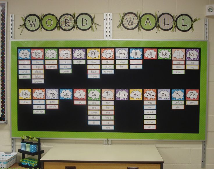 Felt + velcro = interactive word wall/bulletin board