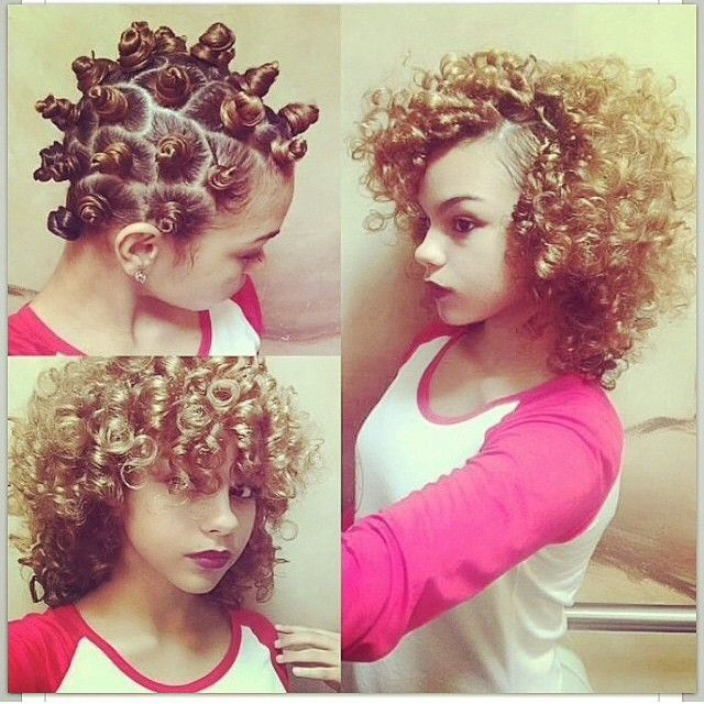 Bantu Knot Out (no heat curls)