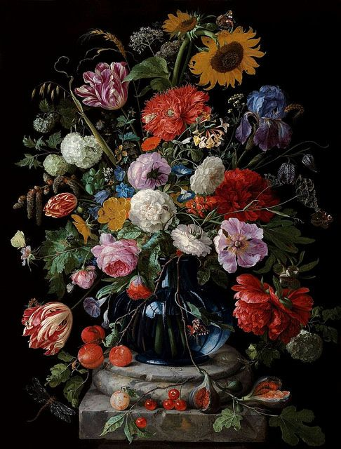 Bouquet de fleurs, by Jan Davidsz de Heem (1606 - 1684) ____ posted on flickr by Ωméga *