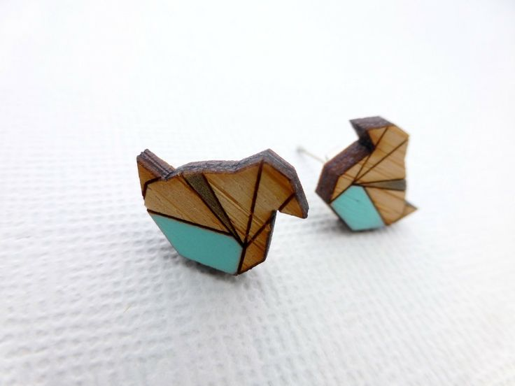 Bamboo Bird Earrings available at Whimsy & Grace NZ