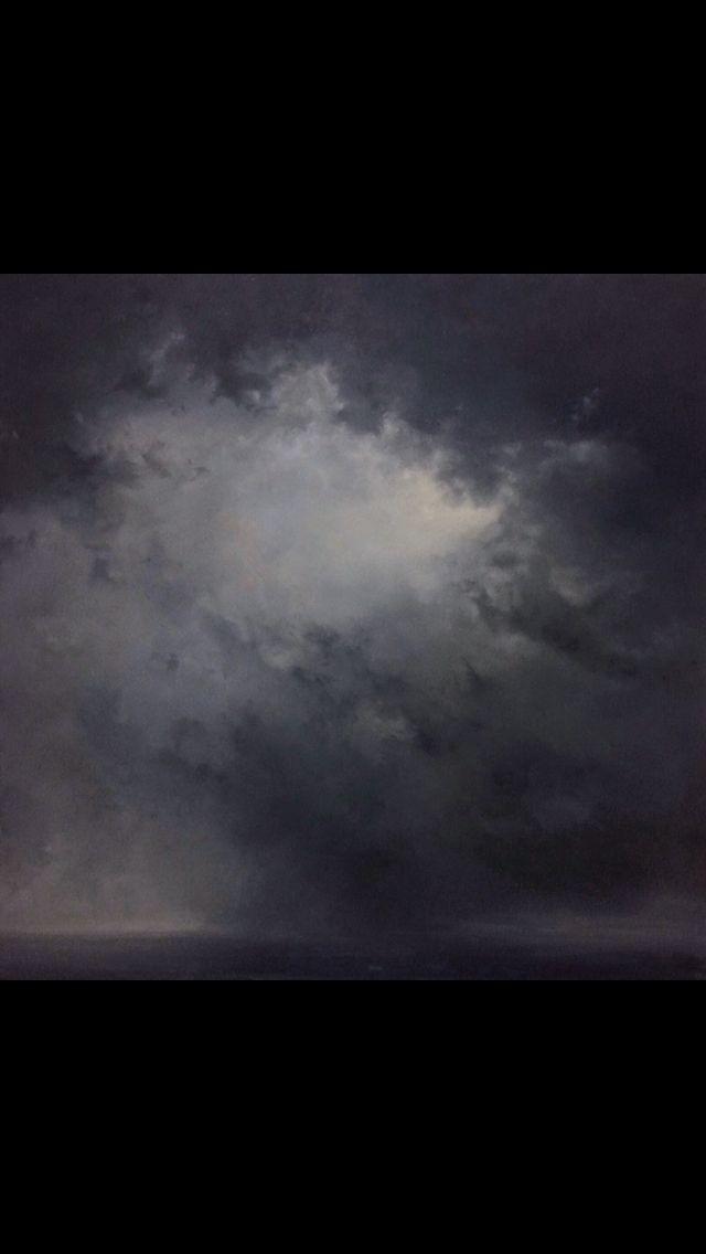 Stormy sky. Artist: Igor Meyer. Oil on canvas. 90x90 cm. 2016.