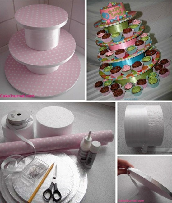Homemade cupcake stand | Polka Pics