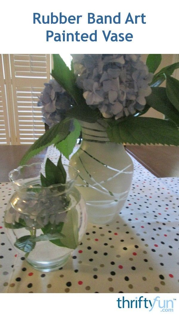 Rubber Band Art Painted Vase