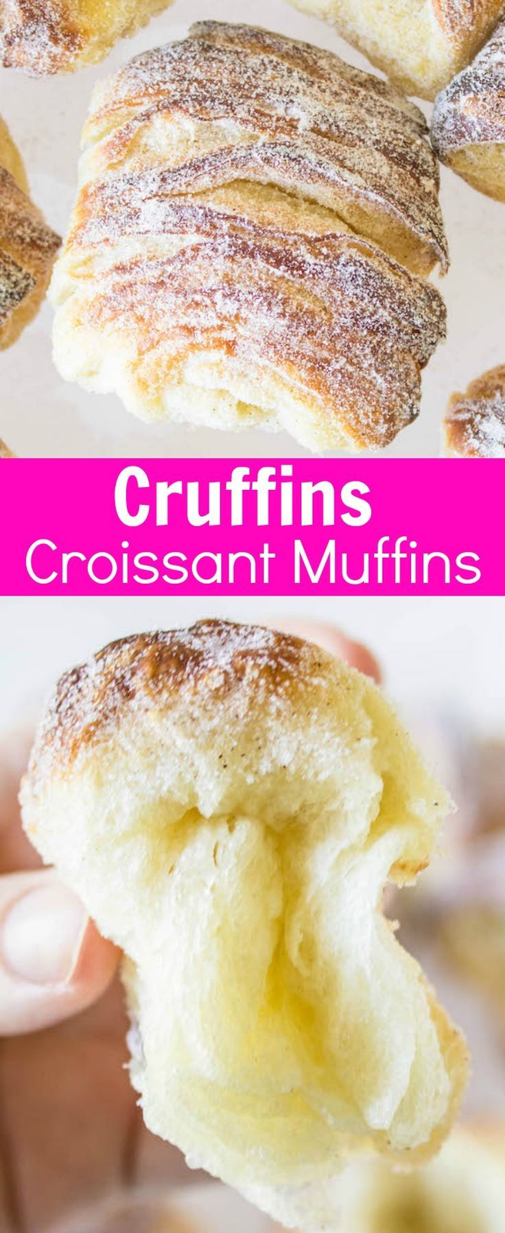 Cruffins: croissant muffins with pillow-y, buttery interiors and crisp, sugar-sprinkled exterior! Recipe via MonPetitFour.com