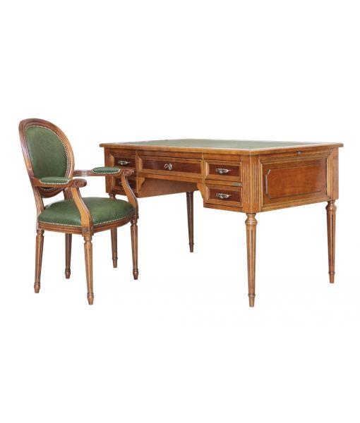 www.italian-style.co.uk by Arteferretto. SKU 13815. Desk: W 130 x D 76 x H 80 cm Armchair: W 50 x D 58 x H 96 cm