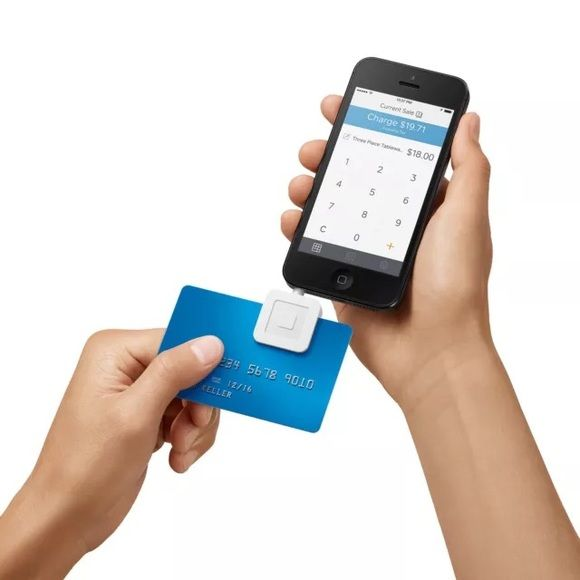 Square card reader white Accept credit cards anywhere The free Square Reader works with the free Square Register app to allow everyone to take payments on their smartphone or tablet. must download the square card app and set up your reader! Fast setup  Works with iOS and Android Never miss a sale again. Serious security Card information is encrypted at the moment of swipe. Square doesn't store data on your device after a payment has been processed. Square Reader Other