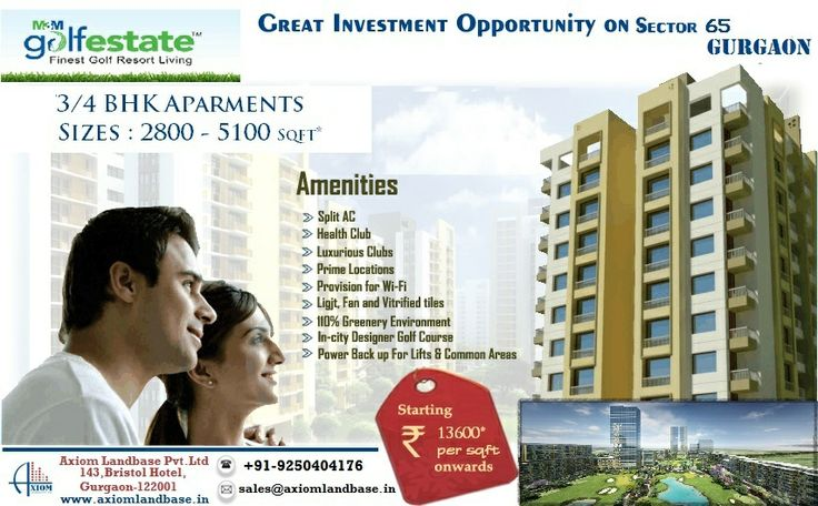 "M3M Group has come up with its prestigious   residential project by the name ""M3M Golf   Estate"" in Sector 65-Golf Course Extension     Road, Gurgaon. FLOOR PLANS :3BHK , 4BHK Call Now For 100% Booking  9250404176  http://m3mgolfestate.net.in/"