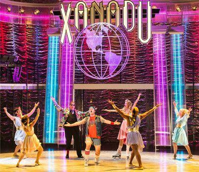 Arizona Theatre Company's 'Xanadu' cast, including Dane Stokinger as Sonny Malone (middle, front) and Jessica Skerritt as Kira (back, pink dress) - #examinercom