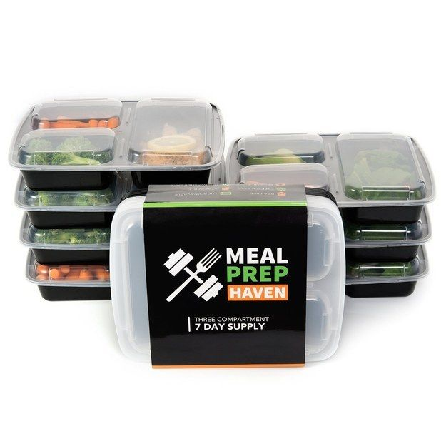 These genius portioned-out meal-prep containers that will help you eat healthier ($14.95 for a set of seven). | This Is What People Are Buying On Amazon Right Now