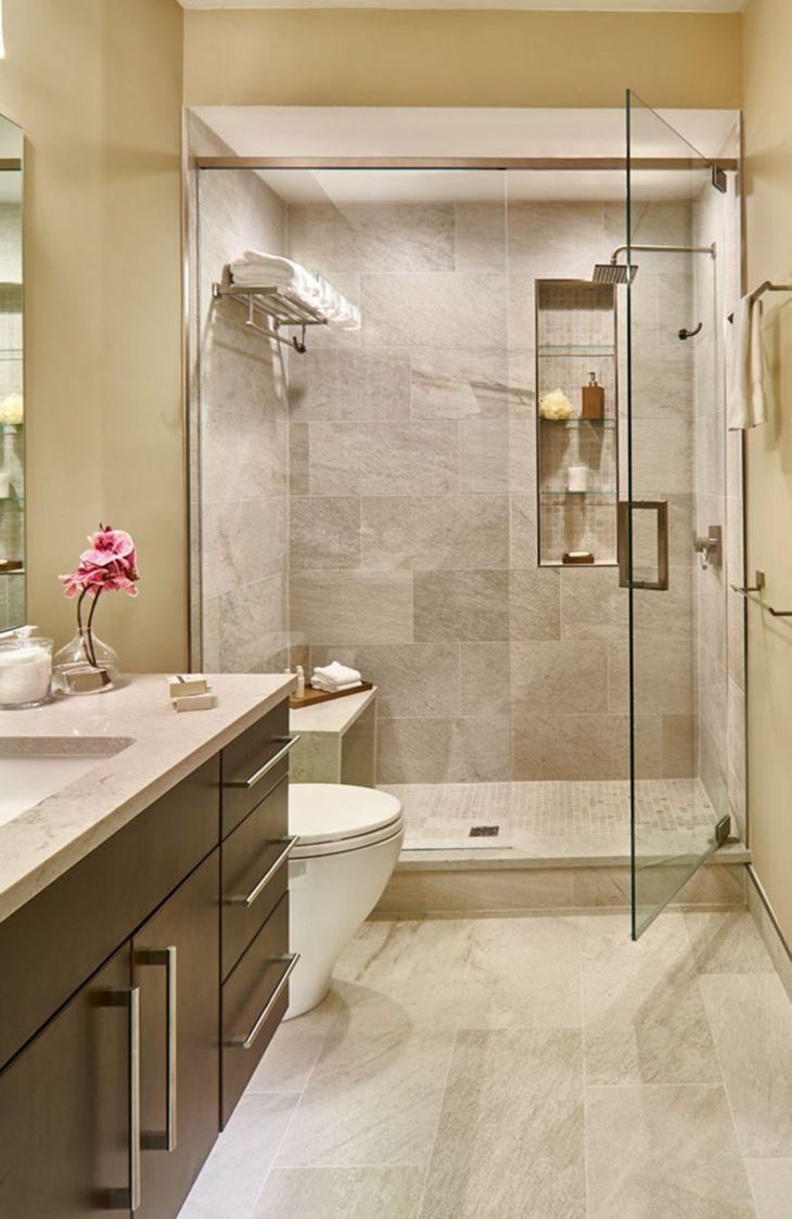 17 fantastische moderne kleine Badezimmer-Entwürfe für kleine