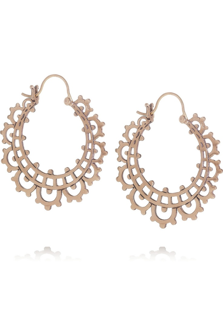 Laurent Gandini | Creole 9-karat rose gold hoop earrings | NET-A-PORTER.COM