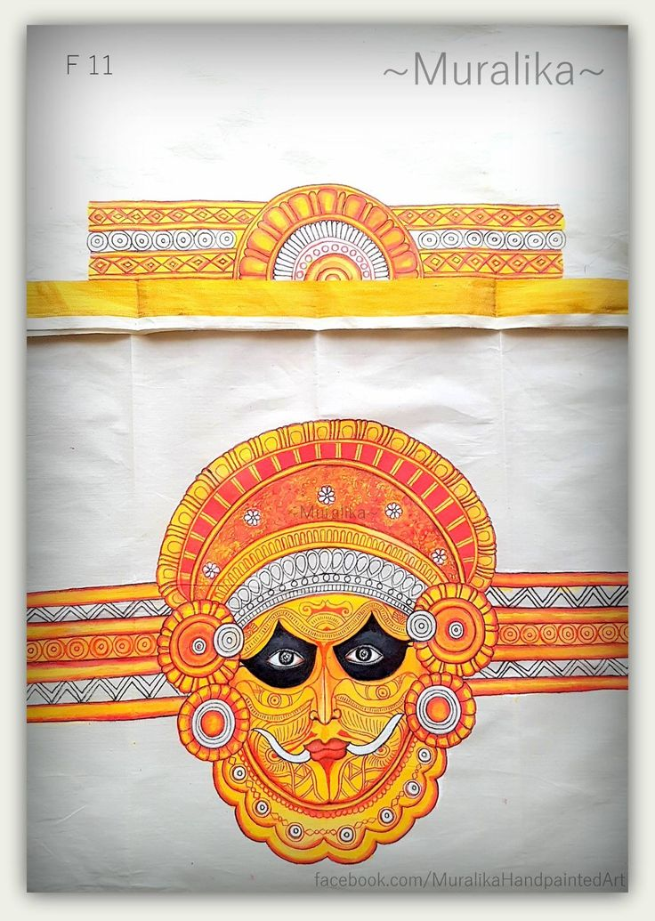 Kerala folk dance 'Theyyam' .Saree blouse back and sleeve design
