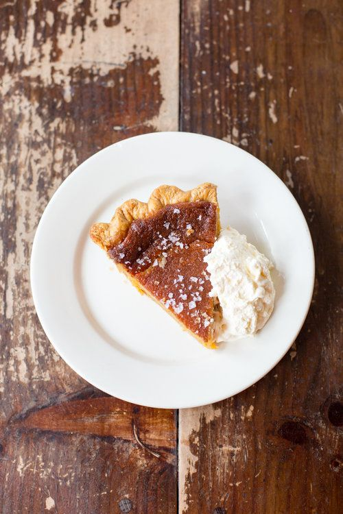 Salty honey pie at Four & Twenty Blackbirds, Gowanus, NYC. | The Desserts of New York cookbook