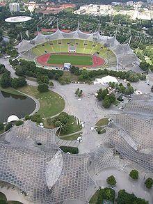 Munich Olympic Stadium (Olympiastadion), Olympiapark München, 1972   Atelier Frei Otto Warmbronn, Gunther Behnisch