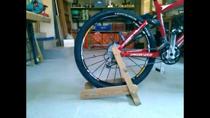 Rodillo de madera casero para bicicleta 2ª parte