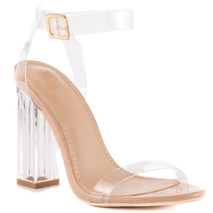 Gelee Sandale Frauen Kim Kardashian Sandalen Schuhe Damen High Heels Party Schuhe Knöchelriemen Klar Heels Frauen Sandalen Luxus 2017 //Price: $US $76.00 & FREE Shipping //     #abendkleider