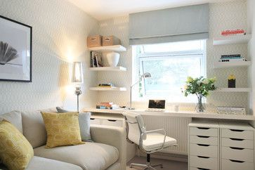 Fitted Desk Home Office & Library Design Ideas, Photos, Makeovers and Decor