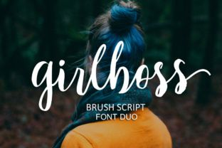 http://Girlboss Script is a modern hand-drawn brush font with an dynamic, energetic style. It can be used in multiple types of projects.